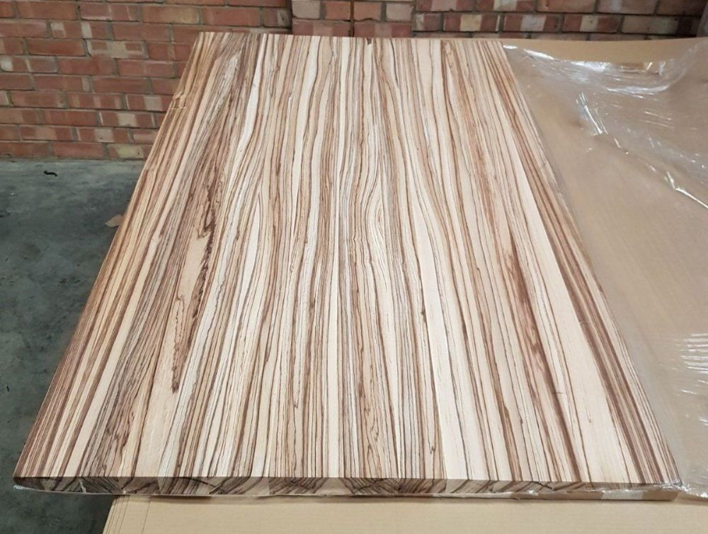 1530x900x40mm Solid Zebrano Worktop Table Top